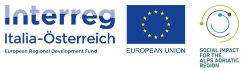 Interreg Italia Österreich und Social Impact Logo